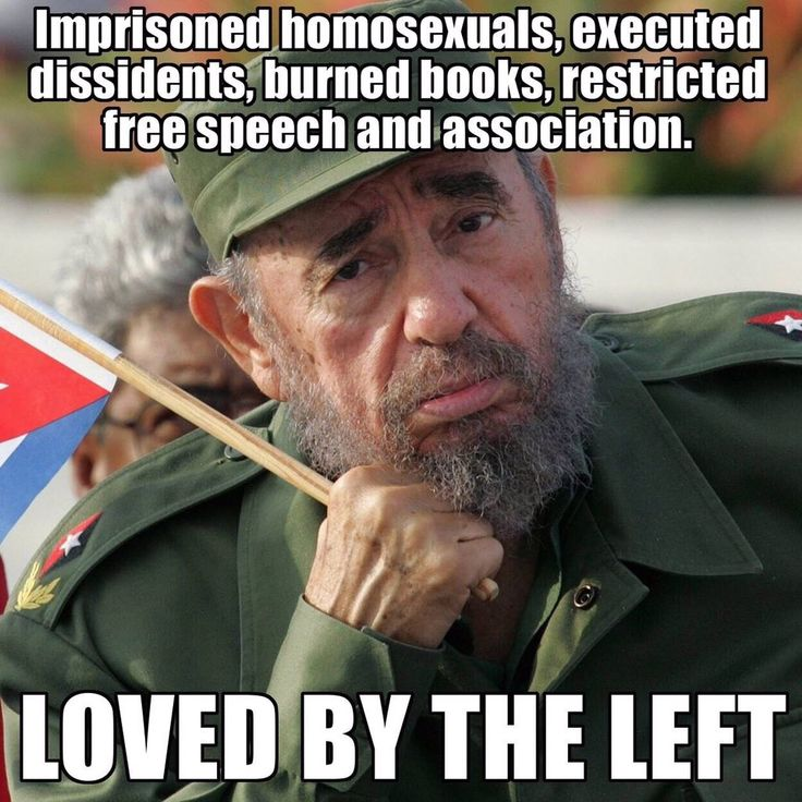 WAKE UP, LIBTARDS!!! For those who fled Cuba & came to America for their FREEDOM, ask them what kind of an asshole Castro was!