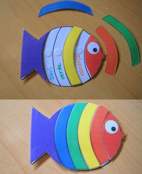 Aprende los colores con un pez y velcro