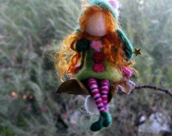 Christmas Angel ornament Tree ornament Fairy ornament Needle felted fairy Waldorf inspired doll Home decor Angel ornamnet
