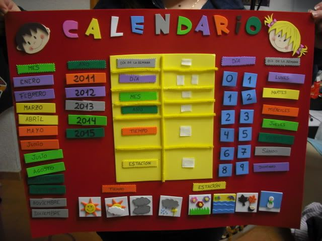 Calendarios para preescolar de fomi buscar con google for Calendario manualidades