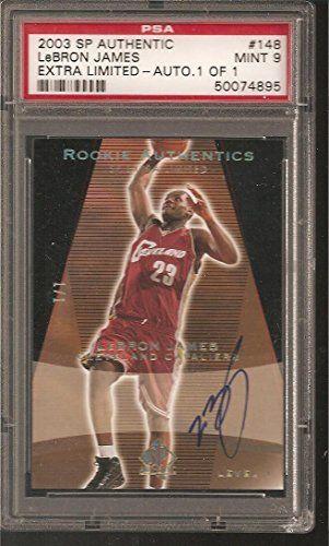 9 Lebron James 2003-04 Upper Deck Sp Authentic Black Auto Autograph #d 1/1 - PSA/DNA Certified - Basketball Slabbed Autographed Rookie Cards