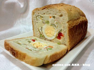 cocina con ANA: PAN DE MOLDE RELLENO DE ENSALADILLA RUSA