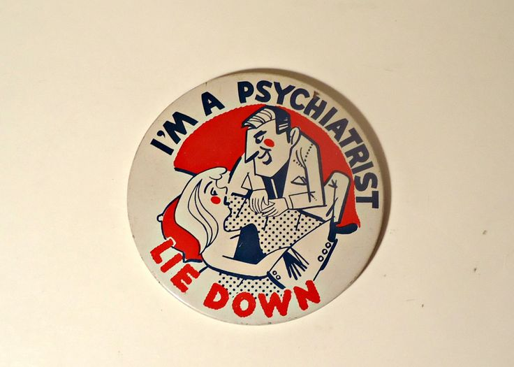 Pinback Button Vintage I'm A Psychiatrist Lie Down 1970's Humorous by treasurecoveally on Etsy