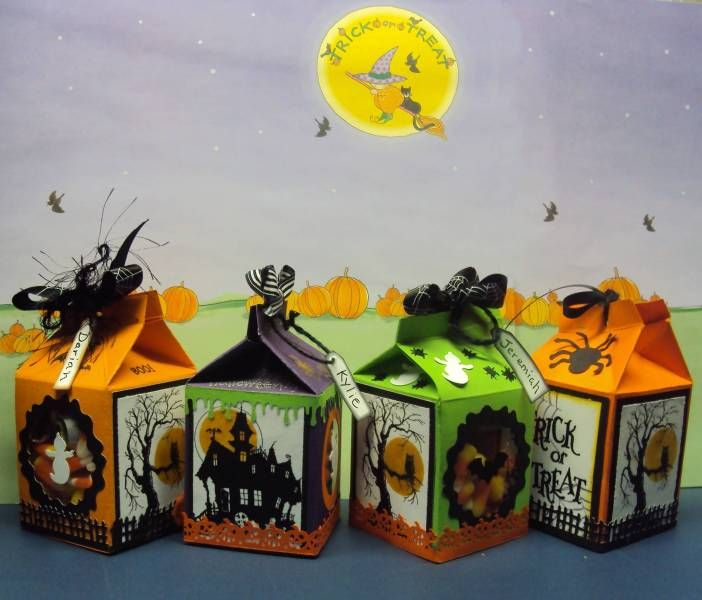 spooky milk carton treats - Halloween Cartons