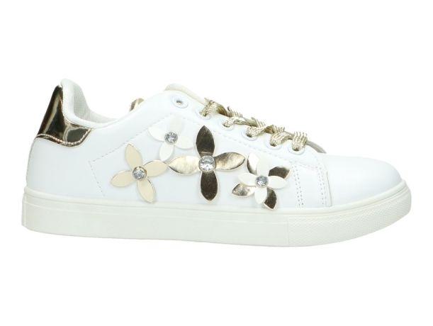 Metallic Flowerlove / bloemen Sneaker FASHION PARIS 243033 HX-006 GOLDEN | HX-006 GOLDEN | BERCA.BE | Schoenen online kopen | Gratis verzending | Niet tevreden, Geld Terug | 100% Veilig | Zeer grote keuze