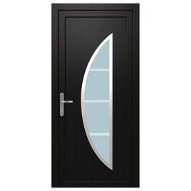 Porte d'entrée pvc Diagona L.90cm gris p.droit