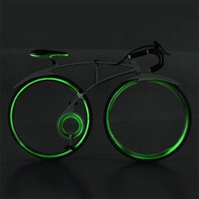 Foldable Spokeless Racing Bike: Concept design by Allen Chester G. Zhang #Bike #Allen_Chester_G_Zhang