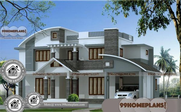 Free House Designs Indian Style Low Cost Double Storey House