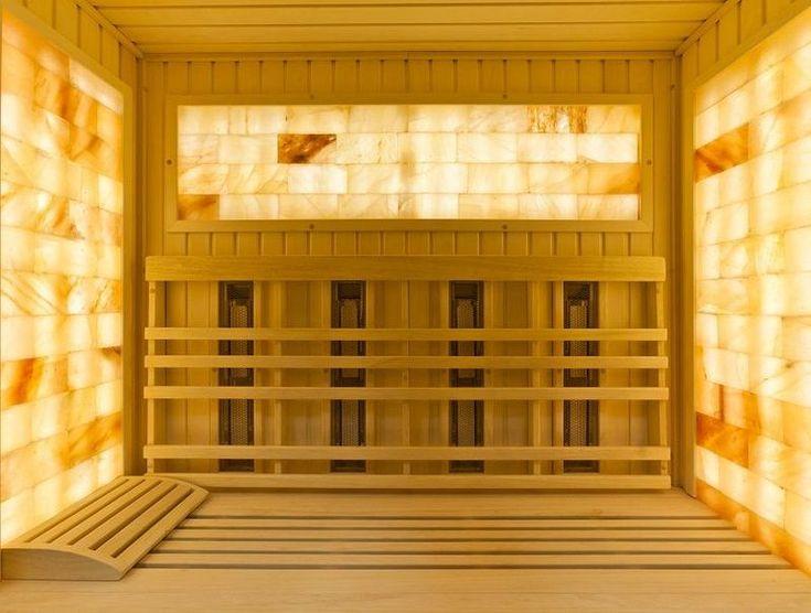 Solná infrasauna Lux s oblým designem - Sauny Vital