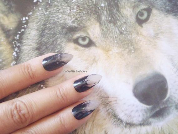 halloween werewolf witch zombie fake nails wolf talons claws