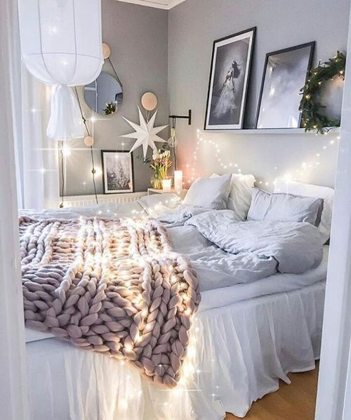 Lights under bedskirt