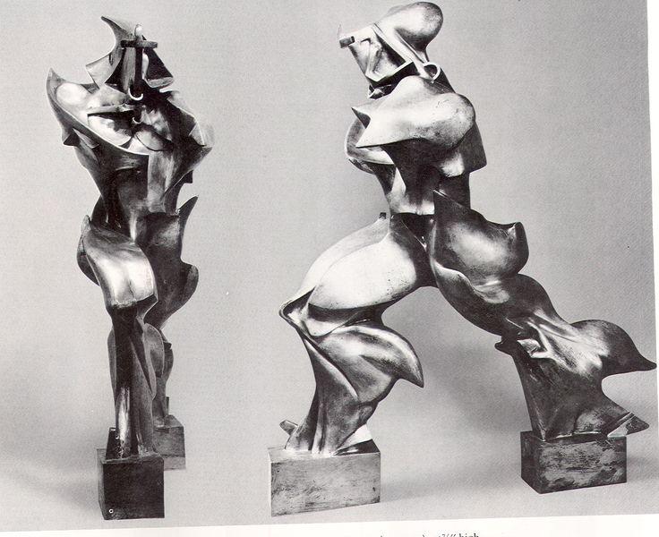 Escultura futurista de Humberto Boccioni.