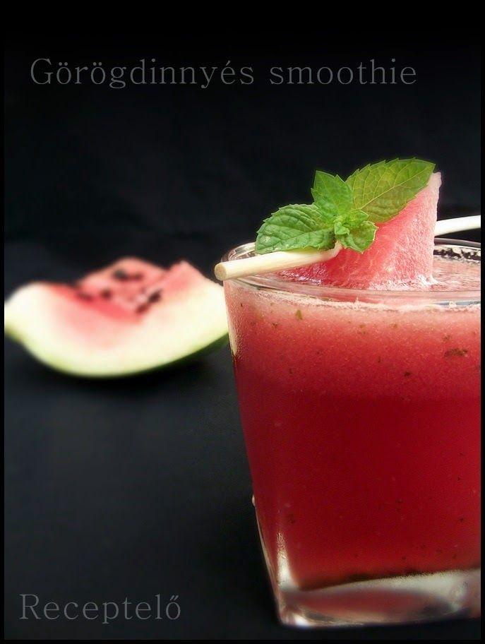 Receptelő: Görögdinnyés smoothie mentával