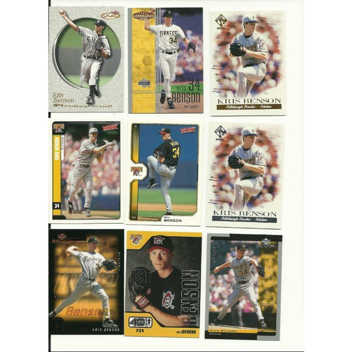 HUGE Different 45 + KRIS BENSON cards lot all Pirates 1997 - 2004