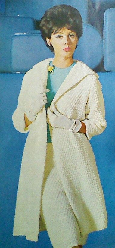 Vintage Crochet Shell Stitch Coat and Skirt Pattern on Etsy, $3.50