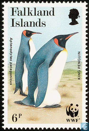 Postage Stamps - Falkland Islands - WWF-King Penguin