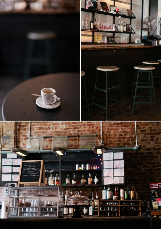 Industrial and exposed brick. Natural feel like coffee