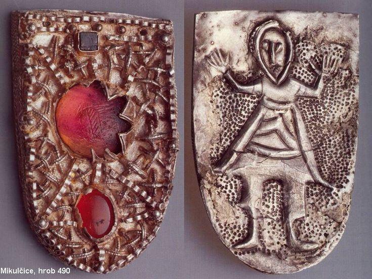 Mikulčice , hrob 490, nákončí