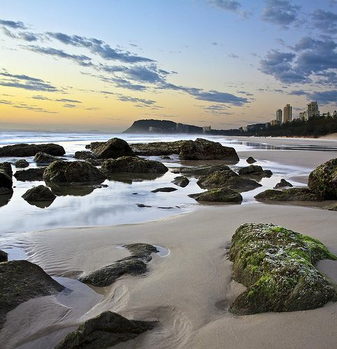 Sunrise - Nobbys looking south to Burleigh Heads   Michael Dawes