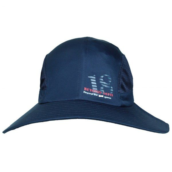 Stylish Sunscreen Deep Blue Beyond 18th Logo Pattern Men's Bucket Hat With String #shoes, #jewelry, #women, #men, #hats, #watches
