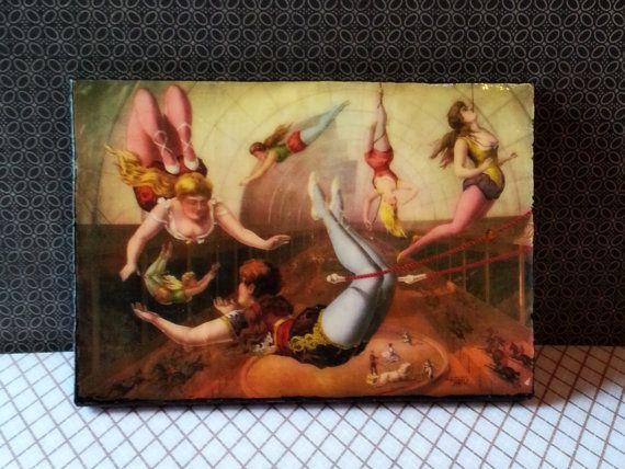 Refrigerator Magnet Art Vintage Circus poster by AlphachicsEDEN, $10.00