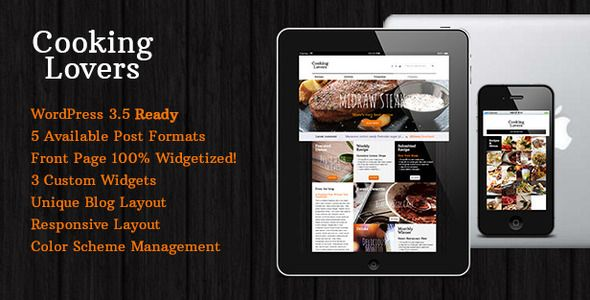 Cooking Lovers - Responsive WordPress Theme