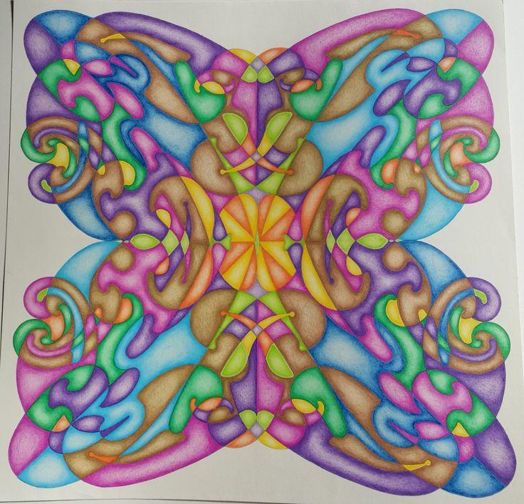 Mandala pistolete 2 realizado con pistoletes y pintado con - Colores para mandalas ...