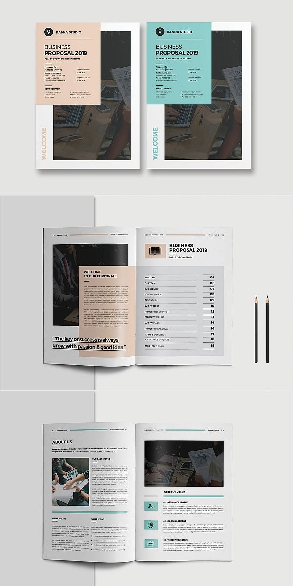 Project Proposal Proposal Design Business Proposal Template