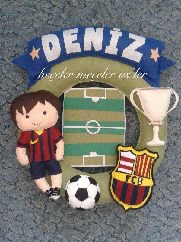 Football boy felt Barcelano
