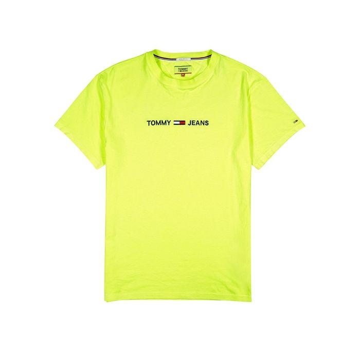 Tommy Jeans TJM Printed Retro Logo Tee T-Shirt de Sport Homme