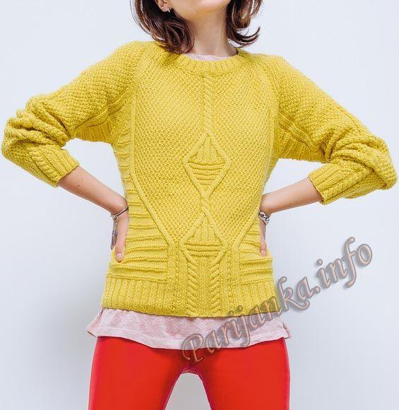 Пуловер (ж) 17*135 Phildar №4759