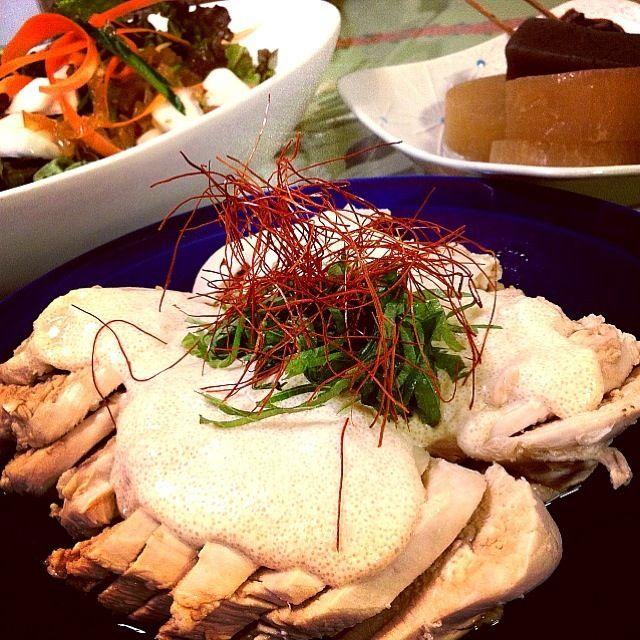 ずっと作りたかったともちゃんのごはん! 鶏胸肉はしっとり、明太子マヨソースはうまうまです。がっつりおかずとは違うけど、大好評でした✨ - 146件のもぐもぐ - cocoateaともちゃんレシピ           鶏胸の明太子マヨソース               カブと中華くらげのサラダ           おでん by 1125shino