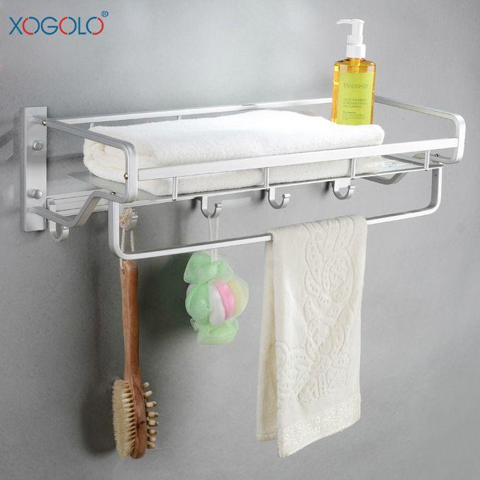 Купить товарXogolo пространство алюминиевые корзины ванной ванная полка ванной аксессуары 18855 в категории Вешалки для полотенецна AliExpress.