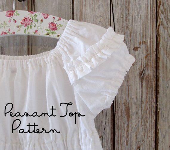 Sweet Cheeks  Peasant Top Pattern PDF. Girl's by RubyJeansCloset, $7.50