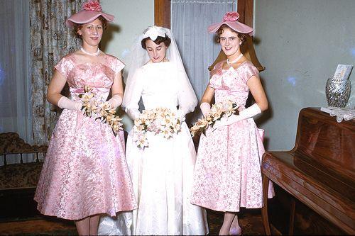 bride and bridesmaids 1960