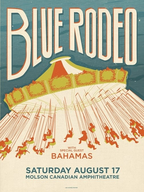 Blue Rodeo concert poster.