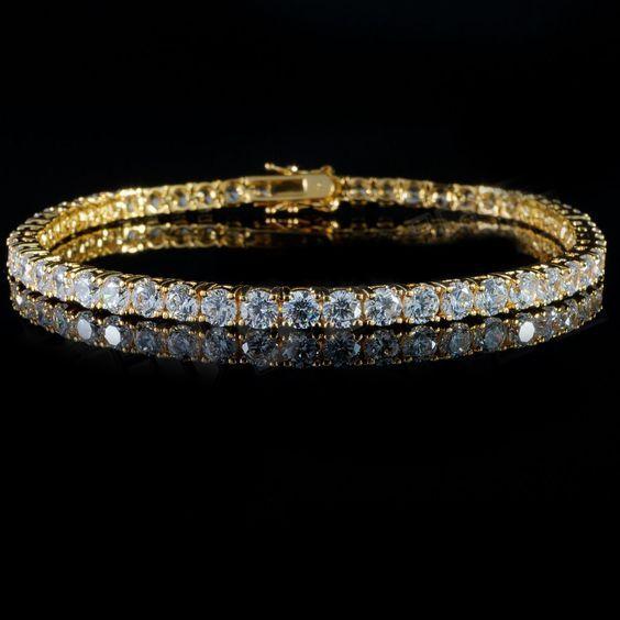 18k Gold tennis bracelets are now available on https://24k-jewelry.com/product/3mm-gold-tennis-bracelet/ #jewelry #jewellery #necklace #chain #bracelet #gold #silver #platinum #sterlingsilver #10k #14k #18k #24k #24kjewelry #diamond #ring #vvs #bezel #versace #herringbone #cubanlink #miamicubanlink #figaro #goldfilled #goldplated #solidgold #cartier #micropave #pendant #kilo