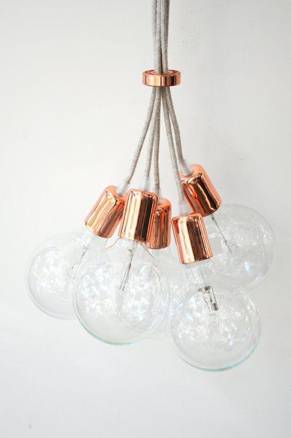 Hecho a mano estilo colgante luz lámpara de araña por LightCookie