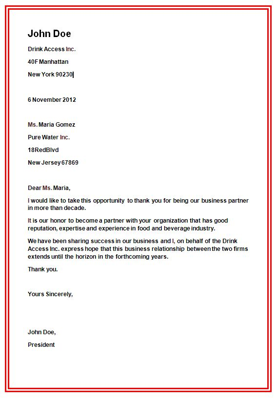 business letter formats format formal writing sample template amp layout