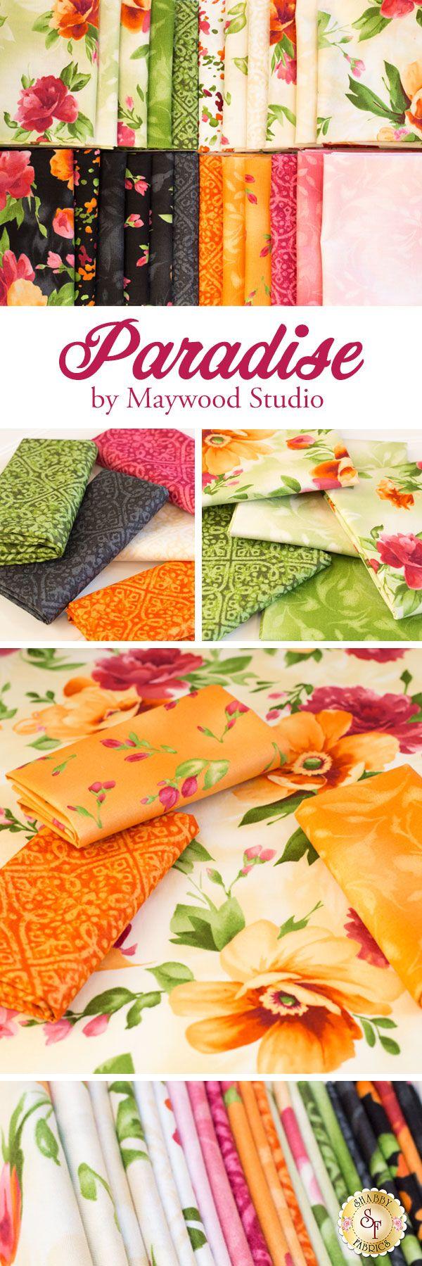 Paradise from Maywood Studio Fabrics is a beautiful collection available at Shabby Fabrics