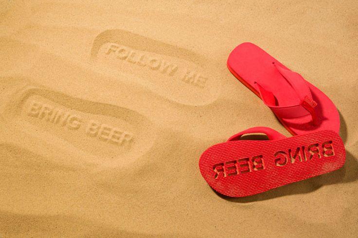 bring beer flip flops