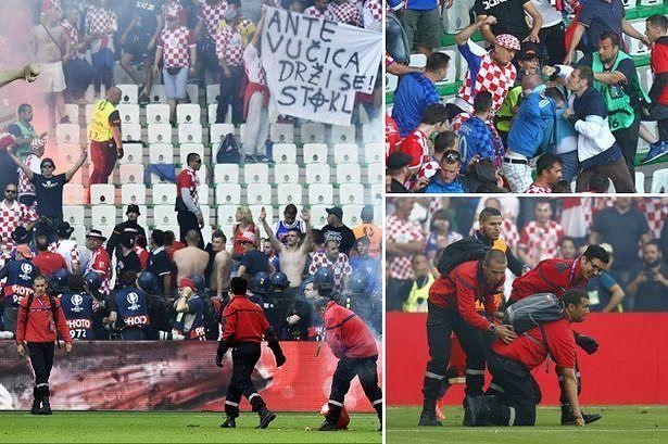 Croatia vs Czech Republic  or fans vs Croatia  players  in euro 2016!!!!!