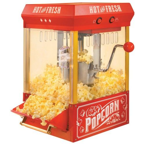 Nostalgia Electrics - Kettle Popcorn Popper - Red - Angle