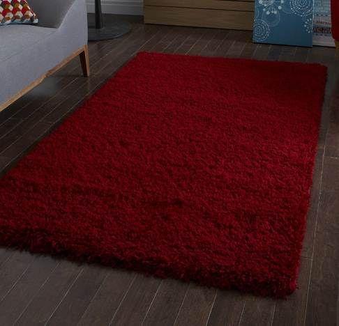 Vista Red Shaggy Rug