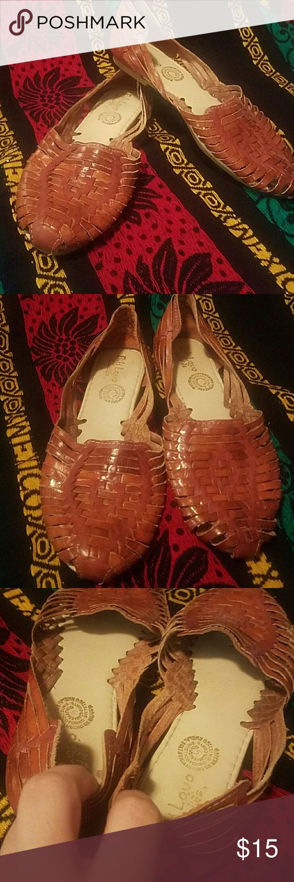 Sandals From Mexico I'm a Size 8-8.5 I purchased these but hardly wore them they were probably used less than a handful of times size 5 in Mexico which is a size 8 in US Bik Lovo  Ladies Shoes Flats & Loafers