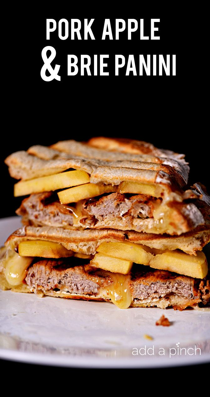 Pork Apple and Brie Panini makes a quick and easy weeknight meal the ...