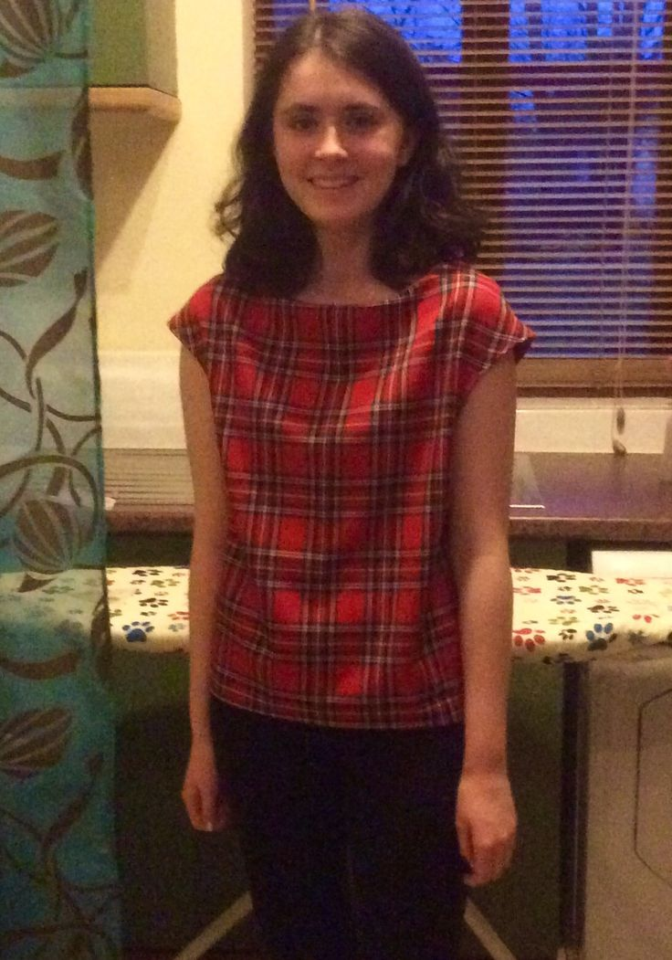 This is my tartan Sophia Top. I used a sewing pattern from Love Sewing Magazine Issue 19. This is the extended version, so it is more of a t-shirt length. It is very comfortable and the fabric is very soft. For more about it head over to my website!