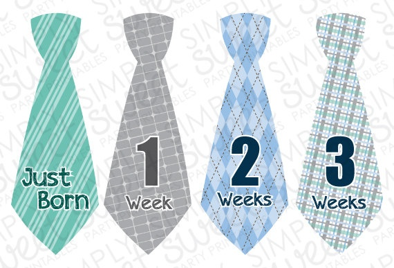 Monthly Baby Onesie DIY Printable Stickers (pdf FILE ONLY ...