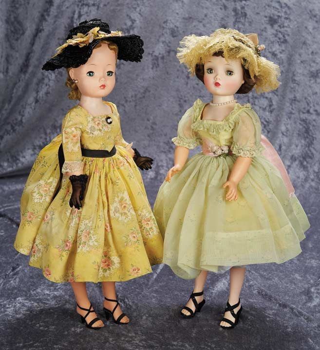 The doll in the green dress is just like mine. I got it about 1958, the year it was produced.