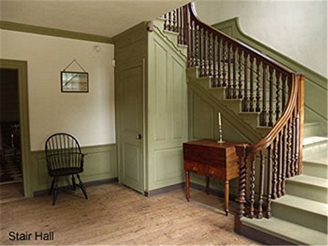 Beautiful staircase..love the closet under the stairs